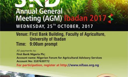 3rd NIFAAS AGM: Ibadan 2017